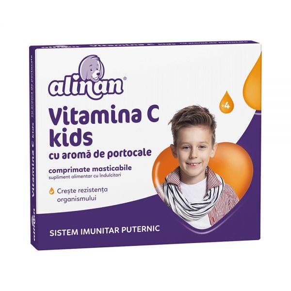 ALINAN VITAMINA C KIDS x 20 cpr mast (portocale)