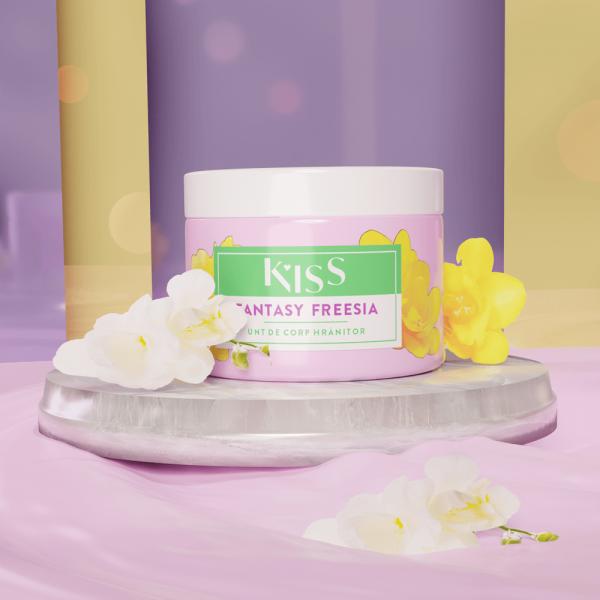 KISS - Unt de corp aroma FANTASY FREESIA x 150 ml