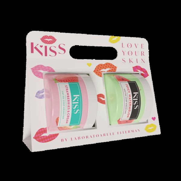 KISS-2 xUnt de corp STRAWBERRY&CREAM+JUICY WATERME
