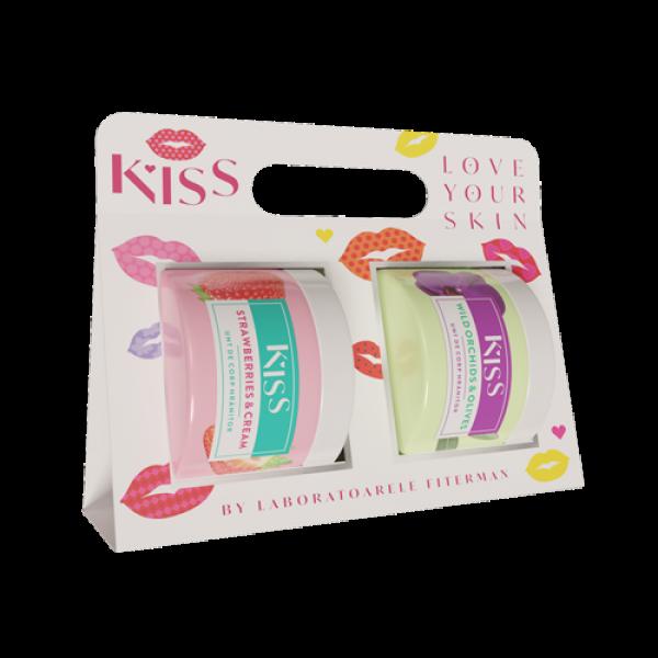 KISS-2xUnt de corp STRAWBERRY&CREAM+WILD ORCHIDS&O