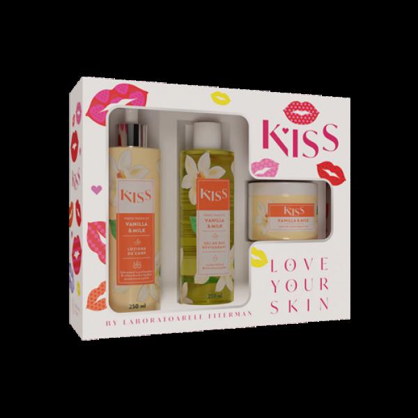 KISS-VANILLA & MILK (gel dus+lot.+unt de corp)