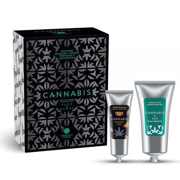 Cr masca Cannabis 75ml+Cr maini Passion Fruit 30ml