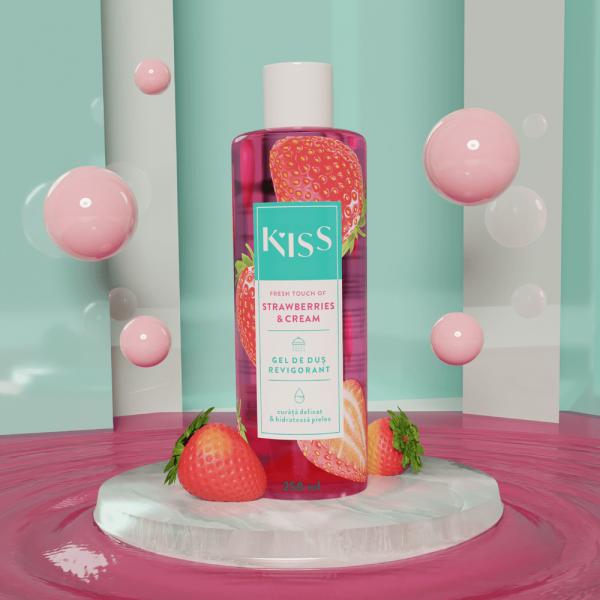 KISS - Gel de dus STRAWBERRY & CREAM x 250 ml