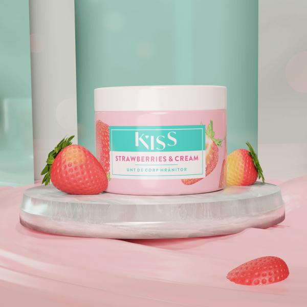 KISS - Unt de corp aroma STRAWBERRY&CREAM x 150 ml