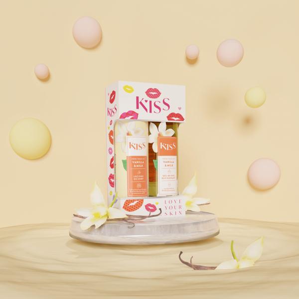 KISS - VANILLA & MILK (gel dus + lot.corp 250 ml)
