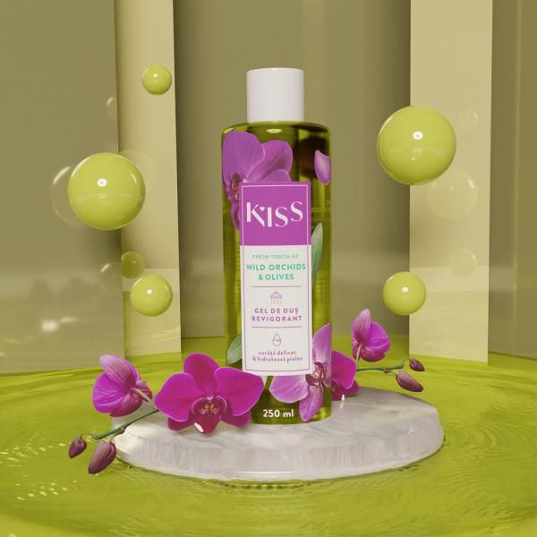 KISS - Gel de dus WILD ORCHIDS & OLIVES x 250 ml