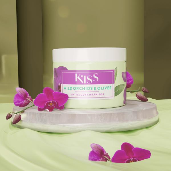 KISS - Unt de corp WILD ORCHIDS & OLIVES x 150 ml