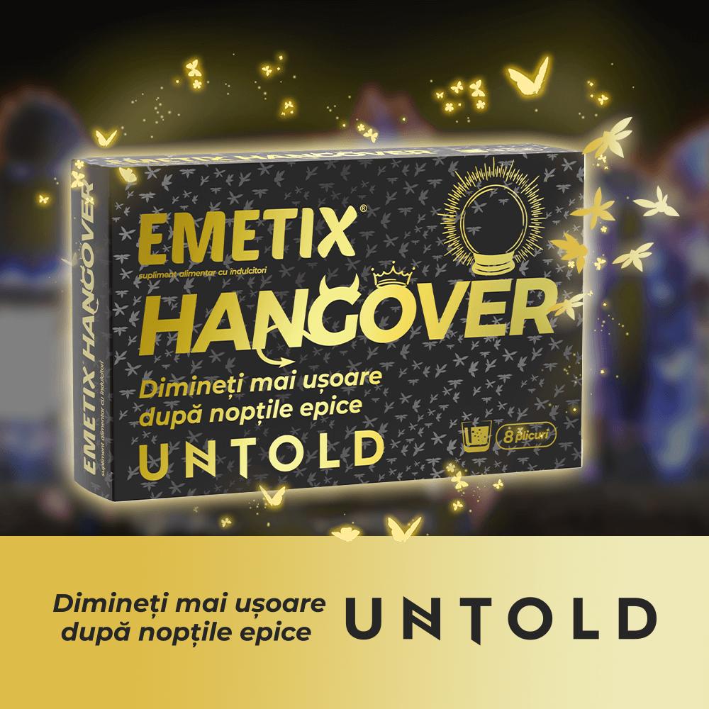 Pregateste-te pentru UNTOLD cu Emetix® Hangover